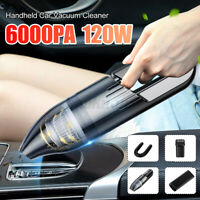 6000PA 120W Portable Wired Car Vacuum Cleaner Handheld Vaccum Portable Wet &