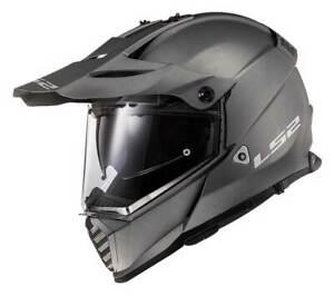 LS2 Helmets Full Face Blaze Adventure Motorcycle Helmet, Matte Titanium 436B-103