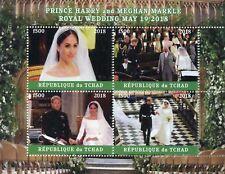 Chad 2018 MNH Prince Harry & Meghan Royal Wedding 4v M/S IV Royalty Stamps