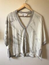 Zoe Couture Collection S Small Cropped Cardigan Sweater Silk Cashmere