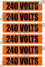 240 Volts Voltage & Conduit Markers | Stickers | Decals | Labels Electrical Volt