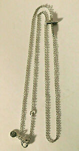 """John Hardy Sterling Silver Classic Chain Cross Necklace 20"""" $395 NEW"""