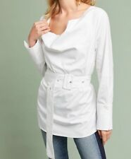 NEW C/Meo Addiction Belted Tunic Top Size Small White
