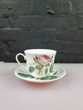 More details for vintage roy kirkham bone china redoute roses breakfast cup & saucer