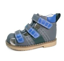 Baby Boy Close Toe Shoes Kids Toddler Leather Sandals Summer Orthopedic Footwear