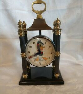 Vintage Bayard DONALD DUCK French Disney Alarm CLOCK
