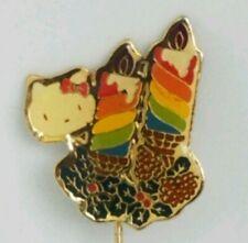 Vintage Hello Kitty Christmas Birthday Stick Hat Pin Rare