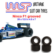 WASP 16 - Urethane Slot Car Tyres - Ninco Grooved F1 cars
