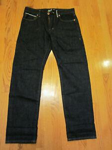Arizona SELVEDGE DENIM JEANS Mens 32 x 32 Dark Wash EUC Slim Straight 32x32 Blue