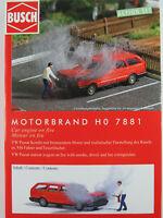 """Busch H0 7881 ACTION SET """"Motorbrand"""" mit VW Passat Variant 1:87/H0 NEU/OVP"""