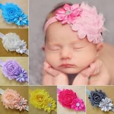 10Pcs Baby Kids Girl Flower Headband Crystal Hair Bow Band Hair Accessories