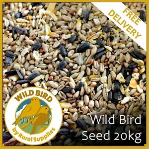 20kg Wild Bird Seed Feed | Year Round Quality Food Mix | For Tables & Feeders |