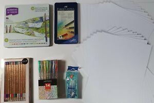 Artists's Bundle Watercolour & Coloured Pencils Arteza Glitter Pens Water Brush