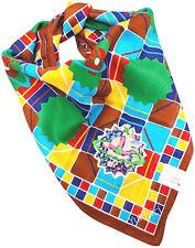 Vivienne Westwood Japan Mosaics Pattern w/Orb Applique Embroidered Handkerchief