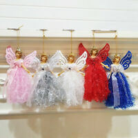 AU_ KE_ ITS- Christmas Hanging Dress Angel Doll Pendant Wedding Party Xmas Tree