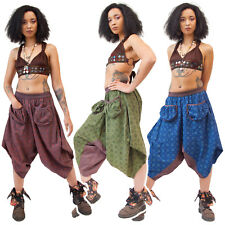 Hippy Harén Pantalones bolsillos delanteros, tribal Alí Babá Pantalones, Psy Trance Clothing