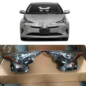 Headlight Replacement Driver Passenger for 2016 2017 2018 Toyota Prius 2pcs Pair
