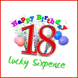 18th Birthday Lucky Sixpence. Great good luck present idea for boy or girl