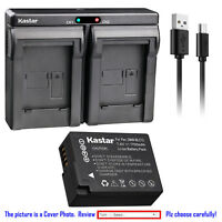 Kastar Battery Dual Charger for Panasonic DMW-BLC12 & Panasonic Lumix DMC-FZ300