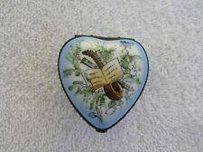 Vintage Limoges France Peint Main Trinket Box Heart Shaped Music Note Must See