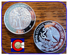 1910-2010 Mexican Revolution Centennial Silver Proof 2 oz 10 Peso Coin - Adelita
