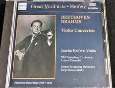 Jascha Heifetz - Beethoven • Brahms : Violin Concertos - CD
