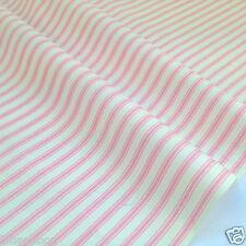 Ticking stripe fabrics 100% cotton poplin 112cm wide per fat quarter/ half metre