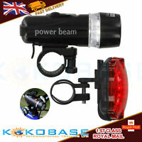 LED Mountain Cycle Headlight Rechargeable Bicycle Bike Front Rear Lights Set