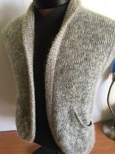Commitee Sweater Vest Cardigan Women Mohair Wool Sz M Beige Vintage Rare