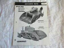 1959 Barber Greene Sb 60 Sa60 Finisher Construction Equip Sales Manual Brochure