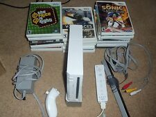 nintendo Wii  Console 19 games sonic rayman rabbids star wars transformers