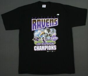 NEW Baltimore Ravens Vintage 2001 AFC Champions Super Bowl XXXV T-Shirt XL