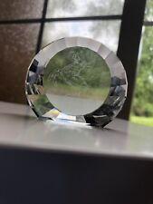 Swarovski Crystal Pegasus Paperweight Disc