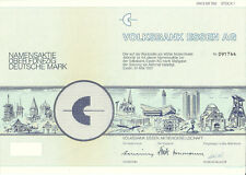 Volksbank Essen AG Aktie Namensaktie 50 DM 1991 WKN 811760 Share Shares