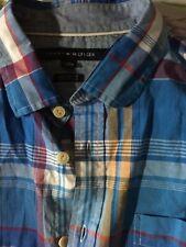 Tommy Hilfiger plaid cotton button up shirt new size  L