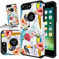 Fits Iphone 8 Plus / Iphone 7 Plus Rubber Phone Case Girl Cover+ Tempered GLass