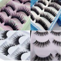 5 Pair Natural Makeup Thick Eyelashes Soft Long Fake False Eye Lashes Extension
