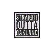 "3 1/2"" X 3 1/2"" embroidered patch - Oakland Raider - NFL STRAIGHT OUTTA OAKLAND"