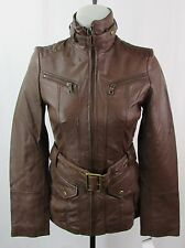 "Andrew Marc/Marc NY Brown Belted ""Venice"" Leather Jacket Size XS LK1046A"