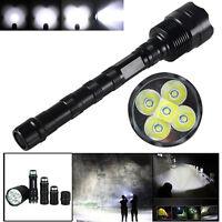 VastFire 10000Lumen 5*XM-L T6 LED Tattico Riflettore A caccia Torcia elettrica