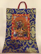 Tibetan Buddhist Silk Brocade Vajrapani small wall hanging/Thangka/ Banner/Nepal