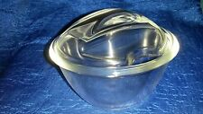 Clear Glass Sugar Bowl Dish with  lid and  handle 9 cm  x 12cm