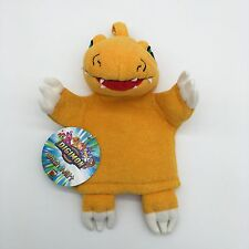 "Digimon Wash Mitt Agumon New Tag Rare 7"" Childrens Toy Towl Jay Franco Plush"