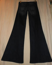 EXPRESS 0 R NWT Dark Denim Wide Leg Stretch Super Flare Bell Bottom Jeans 0X33