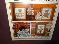 Bunny Bear Counted Cross Stitch Pattern Leaflet 22 1985 The Cricket Collection