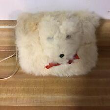 New listing Vintage Childrens Hand Mitt White Puppy Rabbit Fur Mitt Guc