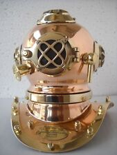 Mark IV. U.S. Navy Mini Diving Helmet Deep Sea Divers Helmet Copper & Brass 7''