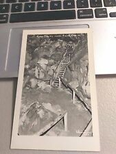 RPPC, Bend, OR  Oregon   Stairs in LAVA CAVES     c1944  Photo Postcard