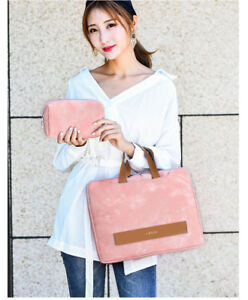 "Laptop Handbag Bag 13""14""15""15.6"" Faux Leather Notebook Carry Handle Pouch Cover"