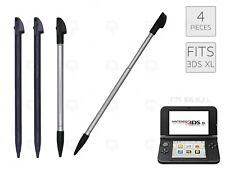 4 x Black Stylus for Nintendo 3DS XL/LL Plastic Stylus Extendable Parts Pen